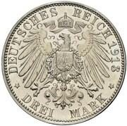 3 Mark - Wilhelm II (Declaration of war of Prussia against Napoleon - Pattern) – reverse