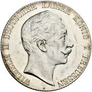 5 Mark - Wilhelm II (Pattern) -  obverse
