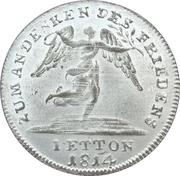 Token  - Friedrich Wilhelm III (Peace and the Treaty of Paris; Prussia) – reverse