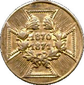 Army Medal - Prussia 1870-1871 (small type) – reverse
