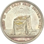 Presentation medal of religious confirmation Type 1.3 – reverse