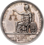 Medal - Friedrich Wilhelm III. Homage to Prussia upon Annexation of Paderborn – reverse