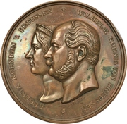 Medal - Opening of the train line Koblenz-Oberlahnstein (Prussia) – obverse