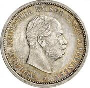 5 Mark - Wilhelm I (Pattern) – obverse
