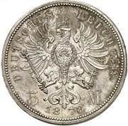 5 Mark - Wilhelm I (Pattern) – reverse