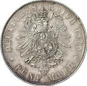 5 Mark - Wilhelm II (Golden Wedding Anniversary - Pattern) – reverse
