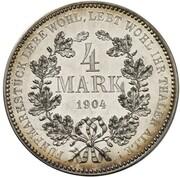 4 Mark - Wilhelm II (Pattern) – reverse
