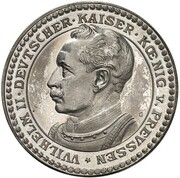 2 Mark - Wilhelm II (Pattern) – obverse