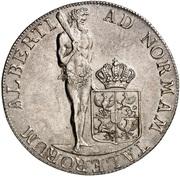 1 Thaler - Friedrich Wilhelm II (Albertustaler) – reverse