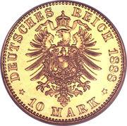 10 Mark - Friedrich III – reverse
