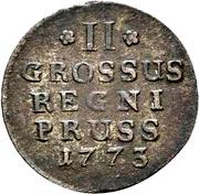 2 Gröscher - Friedrich II. – reverse