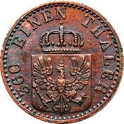 1 Pfenning - Wilhelm I – obverse