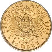 20 Mark - Wilhelm II -  reverse