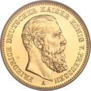 20 Mark - Friedrich III – obverse