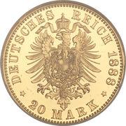 20 Mark - Friedrich III -  reverse