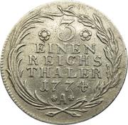 ⅓ Reichsthaler - Friedrich II. – reverse