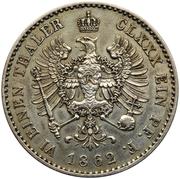 ⅙ Thaler -  Wilhelm I – reverse