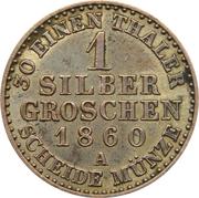 1 Silber Groschen - Friedrich Wilhelm IV – reverse