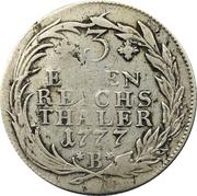 ⅓ Thaler - Friedrich II – reverse