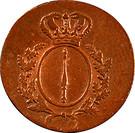 1 Pfennig - Friedrich Wilhelm III – obverse