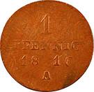 1 Pfennig - Friedrich Wilhelm III – reverse