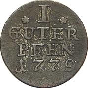 1 Pfennig - Friedrich II – reverse