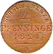 4 Pfenninge - Friedrich Wilhelm III – reverse