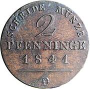 2 Pfenninge - Friedrich Wilhelm IV – reverse