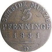 3 Pfennige - Friedrich Wilhelm IV -  reverse