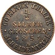 ½ Silber Groschen - Friedrich Wilhelm IV – reverse