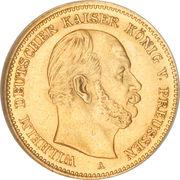 5 Mark - Wilhelm I – obverse