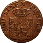 1 Pfenning - Friedrich Wilhelm III – obverse
