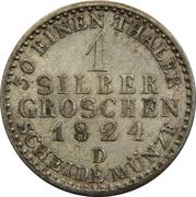 1 Silber Groschen - Friedrich Wilhelm III -  reverse