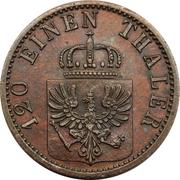 3 Pfenninge - Wilhelm I -  obverse