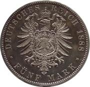 5 Mark - Friedrich III – reverse