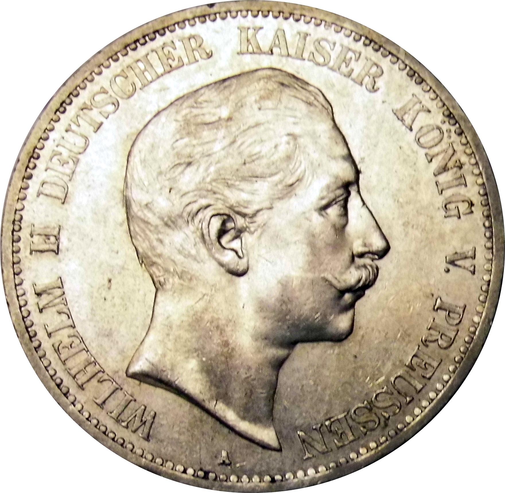 5 Mark Wilhelm Ii Kingdom Of Prussia Numista