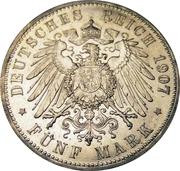 5 Mark - Wilhelm II – reverse