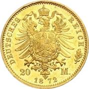 20 Mark - Wilhelm I – reverse