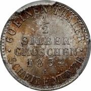 ½ Silber Groschen - Friedrich Wilhelm III -  reverse