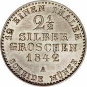2½ Silber Groschen - Friedrich Wilhelm IV – reverse
