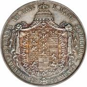 2 Thaler / 3½ Gulden - Friedrich Wilhelm IV – reverse