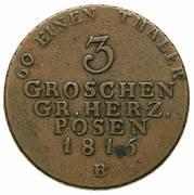 3 Groschen - Friedrich Wilhelm III – reverse