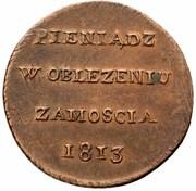 6 Groszy - Siege of Zamość – obverse