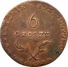 6 Groszy (Siege of Zamość) – reverse