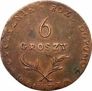 6 Groszy - Siege of Zamość – reverse