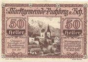 50 Heller (Puchberg am Schneeberg) – obverse