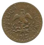 2 Centavos (Tetela del Oro y Ocampo) – obverse