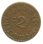 2 Centavos (Tetela del Oro y Ocampo) – reverse