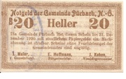 20 Heller (Pürbach) – obverse