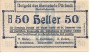50 Heller (Pürbach) – obverse
